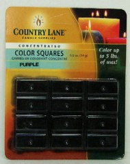 CANDLE MAKING SUPPLIES   N/A Concentrated Color Square Purple 1/2oz. (Blister Cd) (D)<!-- _Disc_ --> CND90608