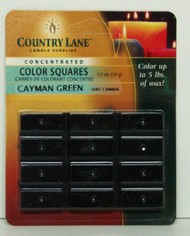 CANDLE MAKING SUPPLIES   N/A Concentrated Color Square Green 1/2oz. (Blister Cd) (D)<!-- _Disc_ --> CND90610