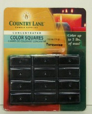 CANDLE MAKING SUPPLIES   N/A Concentrated Color Square Turquoise 1/2oz. (Blister Cd) (D)<!-- _Disc_ --> CND90617