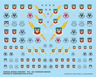 Caracal Models  1/48 USAF Tactical Air Command (TAC) & Air Combat Command (ACC) Badges - Pre-Order Item CARB48007