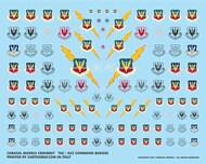 Caracal Models  1/48 USAF Tactical Air Command (TAC) & Air Combat Command (ACC) Badges CARB48007