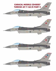 Caracal Models  1/48 Turkish Air Force Lockheed-Martin F-16C/D Part 2 CD48007
