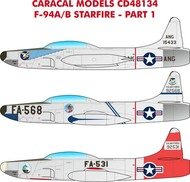 Caracal Models  1/48 Lockheed F-94A/B Starfire - Pre-Order Item CD48134