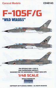 F-105F F-105G Wild Weasels #CD48143