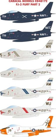 Caracal Models  1/48 North-American FJ-2 Fury - Part 2 EXPECTED IN OCTOBER!!! - Pre-Order Item CD48172