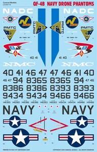 Caracal Models  1/48 McDonnell QF-4B Navy Drone Phantoms - Pre-Order Item CD48176