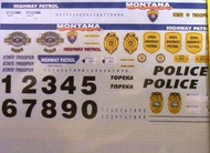 Chimneyville Hobbies  1/43 Kansas (2), Iowa, Montana, Topeka Police Decals CHI1706