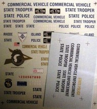Chimneyville Hobbies  1/24-1/25  New Hampshire, Maine & Rhode Island State Trooper Police Decals CHI3016