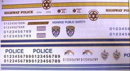 Chimneyville Hobbies  1/24-1/25  Monroe NC, Arkansas & Maui, Hawaii State Trooper Police Decals CHI3029