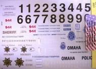 Chimneyville Hobbies  1/24-1/25  San Diego CA, Denver CO & Omaha NE State Trooer Police Decals CHI3031