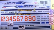 Chimneyville Hobbies  1/24-1/25  Maplewood MN, Yellowstone MT & Detroit State Trooper Police Decals CHI3033