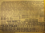 Chimneyville Hobbies  1/24-1/25  Generic Police/Special Units: Tactical Response, Bomb Squad, 911 Blue Decals CHI3036