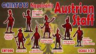 Chintoys  1/32 Napoleonic Austrian Staff (NO BOX. THIS IS POLY BAGGED) includes Francis II, Holy Roman Emperor, Moritz Joseph Johann Baptist von Liechenstein, Andreas Hofer, Karl Paul von Quosdanovich, Archduke Charles, Duke of Teschen, Johann Frimont, Peter de Vecsey e CHT006
