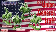 Chintoys  1/32 ACW/American Civil War MOUNTED Union General Staff 2 (NO BOX. THIS IS POLY BAGGED) Includes Joshua Chamberlain, George Armstrong Custer, Ulysses Simpson Grant and William Tecumseh Sherman. CHT013