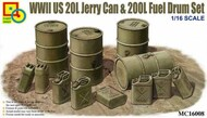 Classy Hobby  1/16 WWII US 20L Jerry Can & 200L Fuel Drum Set CSY16008
