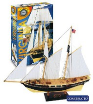 Constructo Wood Models  1/80 Virginia Double-Masted American Schooner Ship w/painted plastic hull (Intermediate) CNS80567