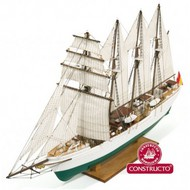 JS Elcano 4-Masted Spanish 1927 Training Ship w/painted plastic hull (Intermediate) #CNS80568