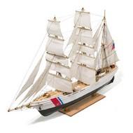 Constructo Wood Models  1/185 Eagle 3-Masted US Coast Guard 1936 Training Ship w/painted plastic hull (Intermediate) (D) CNS80569