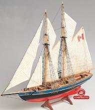 Bluenose II Double-Masted Fishing Schooner Ship w/solid wood hull (Intermediate) #CNS80618
