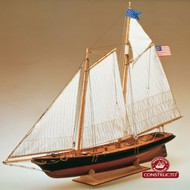 America Double-Masted New York 1851 Schooner Ship w/plank-on-frame (Advanced) #CNS80827
