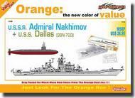 Cyber-Hobby  1/700 U.S.S.R. Admiral Nakhimov + U.S.S. Dallas (SSN-700) (Orange Box Series) - Net Pricing CHC7112