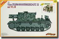15cm Sturm-Infanteriegeschutz 33 Ausf. Pz III w/riders #CHC9123