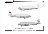 Douglas DC-2 'European users' with decals. includes more optional parts #CMRMM07