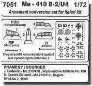 Me.410 - armament conversion set #CMK7051