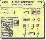 F-104S/G - interior set for HAS #CMK7056
