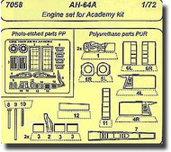 CMK Czech Master  1/72 AH-64A - engine set for ACA (GE/T-700) CMK7058