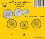 Douglas A-26 Invader Wheels Late Type Finely detailed resin cast wheels* #CMK7473