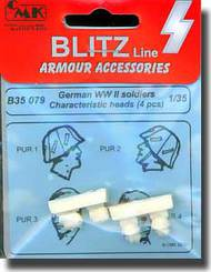CMK Czech Master  1/35 German WWII Soldiers Characteristic Heads (4 pcs.) CMKB35079