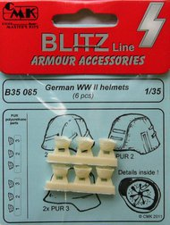 CMK Czech Master  1/35 German WWII Helmets (6 pcs) CMKB35085