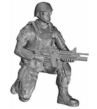 Kneeling Soldier (on right knee), US Army Infantry Squad 2nd Division #CMKF48331