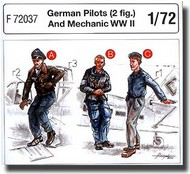 CMK Czech Master  1/72 German Pilots (2 fig.) And Mechanic WW II CMKF72037