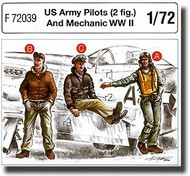 CMK Czech Master  1/72 US Army Pilots (2 fig.) And Mechanic WW II CMKF72039