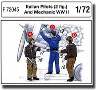 CMK Czech Master  1/72 Italian Pilots (2 fig.) And Mechanic WW II CMKF72045