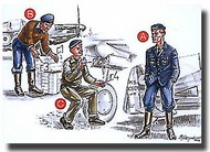 CMK Czech Master  1/72 France Mechanics (2 fig.) And Pilot WW II CMKF72046
