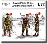 CMK Czech Master  1/72 Soviet Pilots (2 fig.) And Mechanic WW II CMKF72047