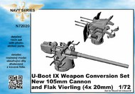 CMK Czech Master  1/72 U-Boot IX Weapon Conversion set new 105mm cannon and  Flak Vierling for REV CMKN72020