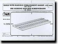 CMK Czech Master  1/35 Rails w/ railway embankment CMKRA006