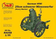 CMK Czech Master  1/35 German WWI 25cm schwerer Minenwerfer / Heavy Mortar– All Resin kit CMKRA058