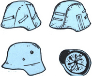 CMK Czech Master  1/35 German WW2 Helmets (6 pcs) CZB35085