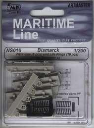 CMK Czech Master  1/200 Bismarck Paravanes and Life Rings (TRP) CZN200016