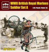 Diopark  1/35 WWII British Royal Marine Soldier Carrying Bicycle & Rifle- Net Pricing DIO35014