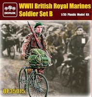 Diopark  1/35 WWII British Royal Marine Soldier Riding Bicycle w/Gear & Rifle- Net Pricing DIO35015