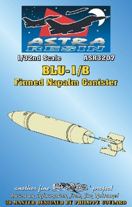 Daco Products  1/32 BLU1/B Finned Napalm Canister (Resin Armament) (D)<!-- _Disc_ --> DCO3207