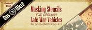 Das Werk  1/35 German Late War Masking Stencils - Pre-Order Item DWA006
