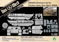 Das Werk  1/35 Zimmerit Set for Pz.Kpfw.V Ausf.A (early/mid/late) Panther(DW35010/DW35011) - Pre-Order Item DWA015