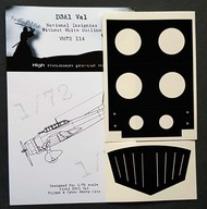 Aichi D3A1 Val National Insignia paint masks without white outline #DDMVM72114